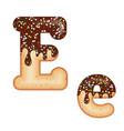 tempting typography font design 3d donut letter e vector image vector image