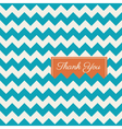 thank you card chevron background vector image vector image