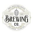 vintage brewing company logo design template vector image vector image