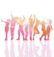 Watercolour party people vector image vector image