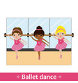 ballerinas with bar and mirror vector image
