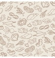 Food seamless pattern with vegetables vector image