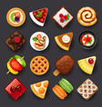dessert icon set-2 vector image
