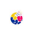 techno ball logo vector image