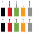 tag set empty sale design in color vector image