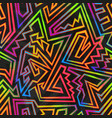 bright neon geometric seamless texture vector image vector image
