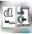 Business card design with letter d vector image vector image
