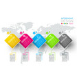 business infographic with 5 steps vector image vector image