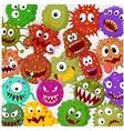 Cartoon bacteria collection set vector image vector image