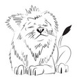 cartoon image of lion vector image vector image