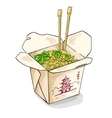 chinese noodles box color picture vector image