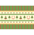 christmas decoration background green red card for vector image vector image