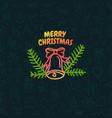 christmas greeting logo vector image vector image