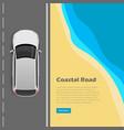 Coastal road conceptual flat web banner vector image