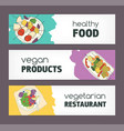 collection of colorful horizontal banner templates vector image vector image