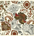 colorful floral seamless pattern paisley ornament vector image vector image