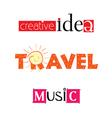 creative idea travel music vector image vector image