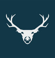 deer logo design inspiration vector image
