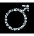Diamond symbol Mars vector image