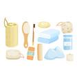 eco bath accessories set vector image vector image
