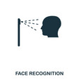 face recognition icon mobile app printing web vector image