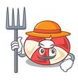 farmer swim tube character cartoon vector image vector image