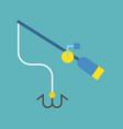 fishing rod icon flat design vector image vector image