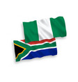 flags nigeria and republic south africa on a vector image