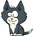 funny little kitten vector image vector image