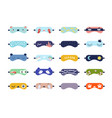 funny sleeping masks flat set vector image vector image