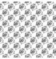 geometric rose flower seamless pattern art deco vector image vector image