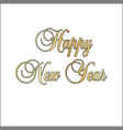gold glitter ornate happy new year vector image