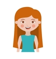 half body girl with long hair vector image