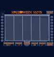 halloween style casino slot machine game complete vector image vector image