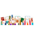 hands hold books vector image