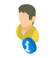 info icon isometric 3d style vector image