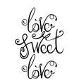 ink vintage hand lettering vector image