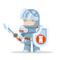 knight warrior fantasy medieval action rpg game vector image