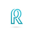 Letter R logo icon design template elements vector image vector image