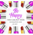 makeup composition be happy vector image vector image