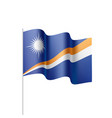 marshall islands flag vector image vector image