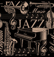 musical seamless background jazz theme vector image