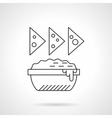 Nachos icon flat thin line icon vector image vector image