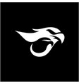 negative space logo design concept eaglet vector image vector image