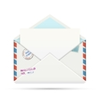 Open Old-fashioned Airmail Paper Envelope vector image