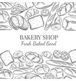 page design for bakery vector image