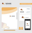 paint brush business logo file cover visiting vector image