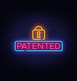 patented neon sign copyright design vector image