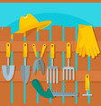 plant tool concept background flat style vector image vector image