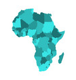 political map of africa in four shades of vector image vector image